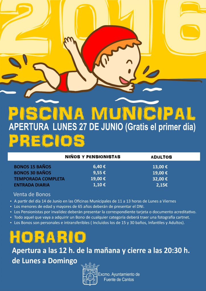 PISCINA MUNICIPAL   Fuente de Cantos Pgina Oficial Ayuntamiento