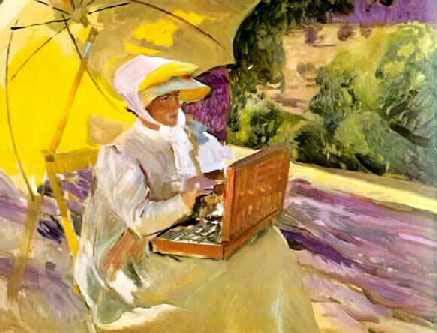 Pintando en el Pardo, 1907