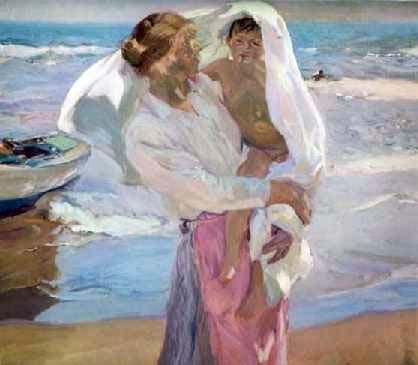 Saliendo del baño, 1915