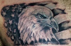 eagle america flag