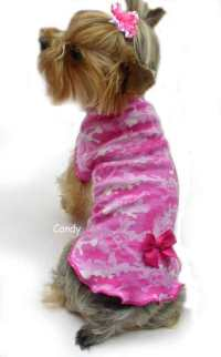 Pink Skull Camouflage dog clothes