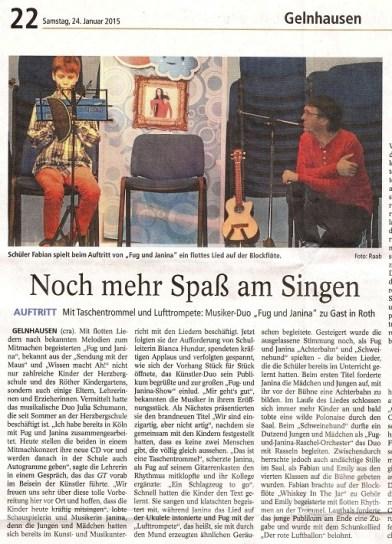 Gelnhäuser Tageblatt 24.01.2015