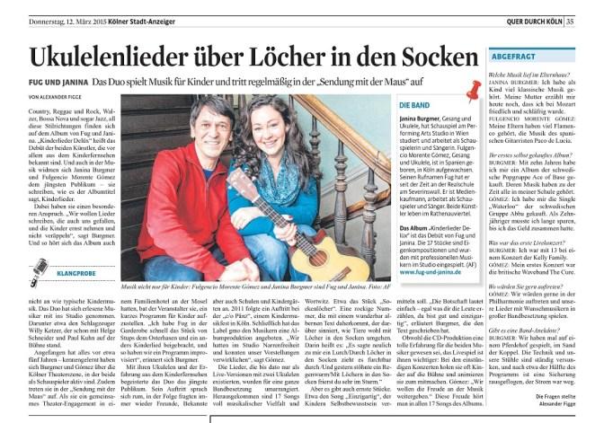 Kölner Stadt-Anzeiger 12 03 2015