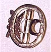 Knee Buckles, Oval, brass