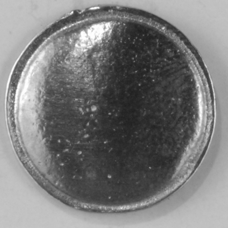 108 S, domed with rim. pewter button