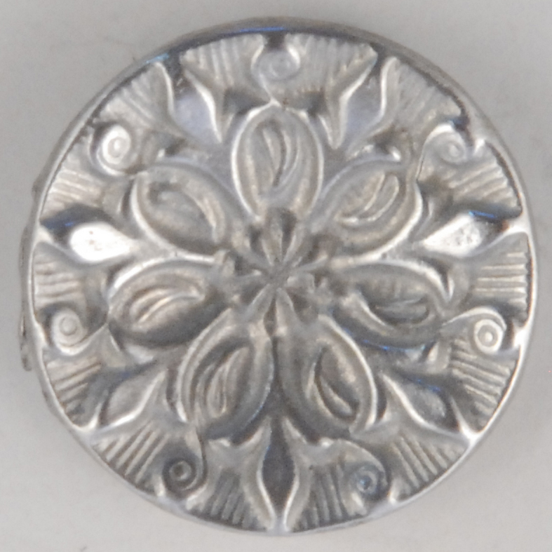136 Opening Bud, Pewter Button