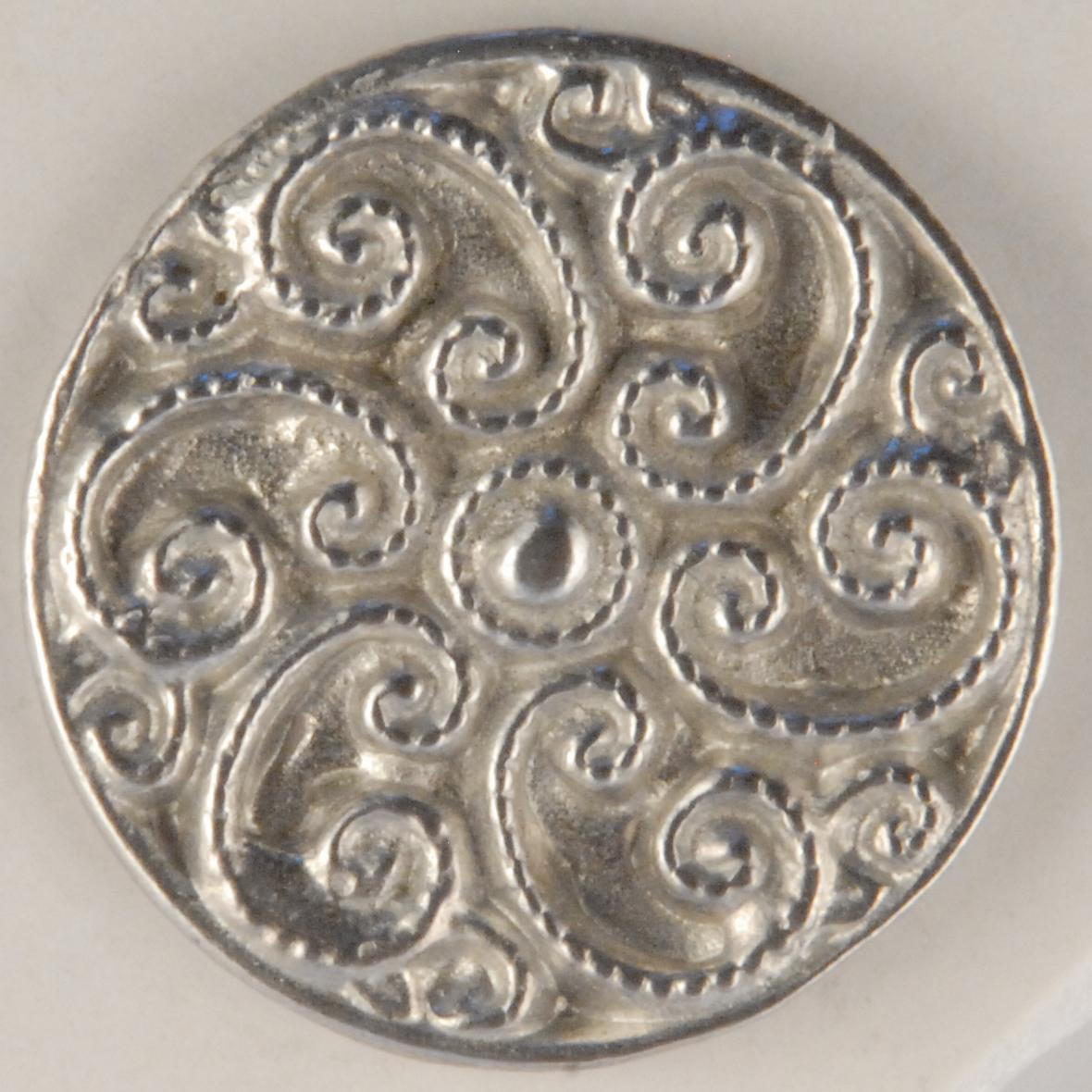 Swirls Fancy Pewter Buttons 1in
