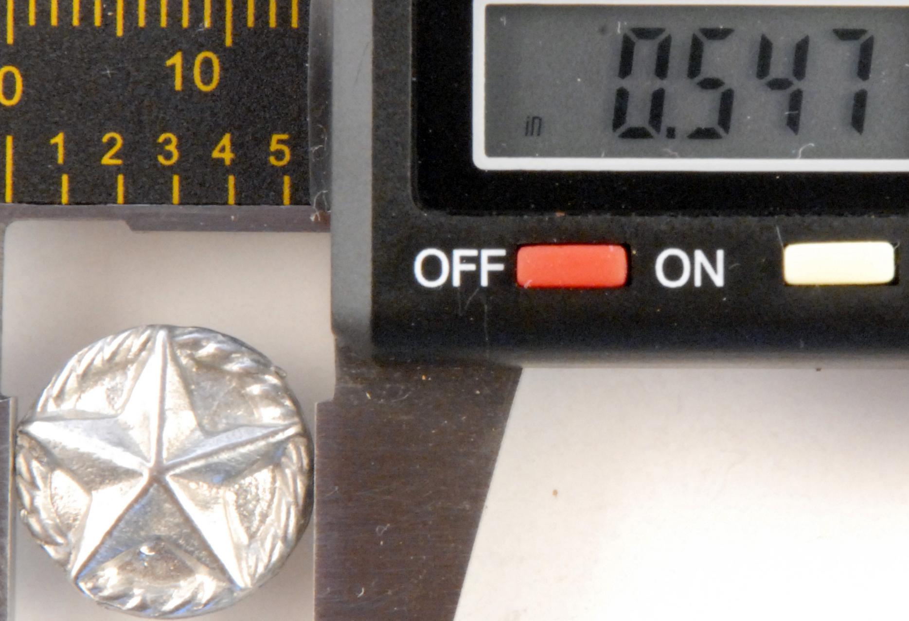 180 S, Texas Star Pewter Button