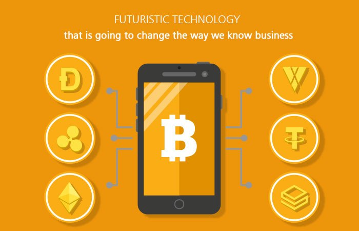 How does blockchain technology relate to mobile app development?