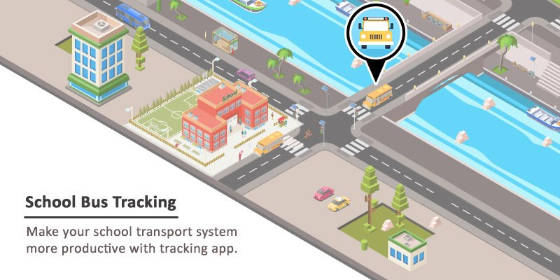 Role of mobile apps in tracking the school buses