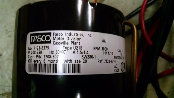 Blower Type U62b1 Fasco Motor Replacement - Year of Clean Water