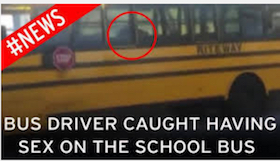 Sex in school bus picture certainly not