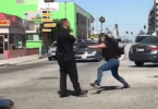 Woman attacks officer