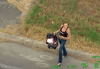 Woman with baby carjacker