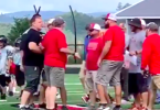 Melee Breaks Out Among Adults and Children's Pee Wee Football Game
