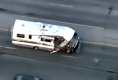 Alleged DUI Driver in RV Caught on Camera