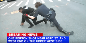 NYPD Officer Tackles Suspect