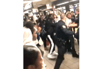 Teens Fight with Police Officers