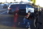 Alleged Bank Robber Tackled by Police Officer