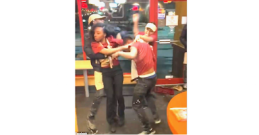Popeyes employees allegedly fighting