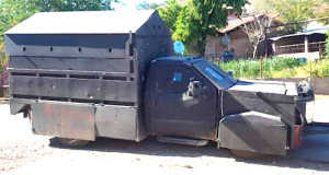 Mexican Authorities Overpower Cartel and Seize Armored Vehicle