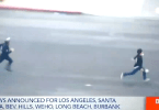 LAPD Officer Chases Alleged Looter Caught on Camera