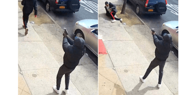 Surveillance images of a shooting