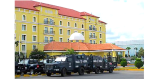 This hotel in Tamaulipas was a temporary home to Federal Police