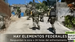 Intense Gunbattle Between Mexican Police and Cartel Gunmen