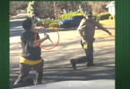 Still frame screen capture from video of suspect armed with knife