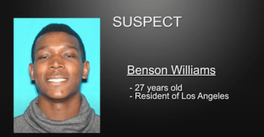 Suspect Benson Williams provided by LAPD