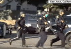San Jose police officers at scene of mass shooting