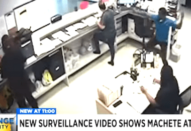 Man with Machete Attacks Employees at Orlando Office Caught on Camera