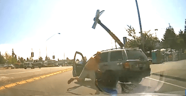 Road Rage Suspect Allegedly Hurls Ax at Driver Caught on Camera