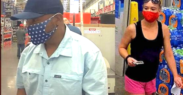ID #21-395 Male and female suspects in organized retail crime, sent on Sept. 8, 2021. (LVMPD)