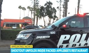 Police Chase Ends with Shooting Inside Packed Applebee's in Redlands