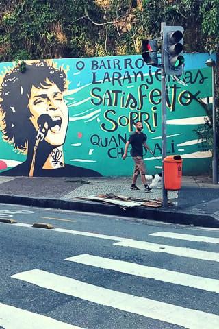 Street art- bairro das Laranjeiras, Rio de Janeiro
