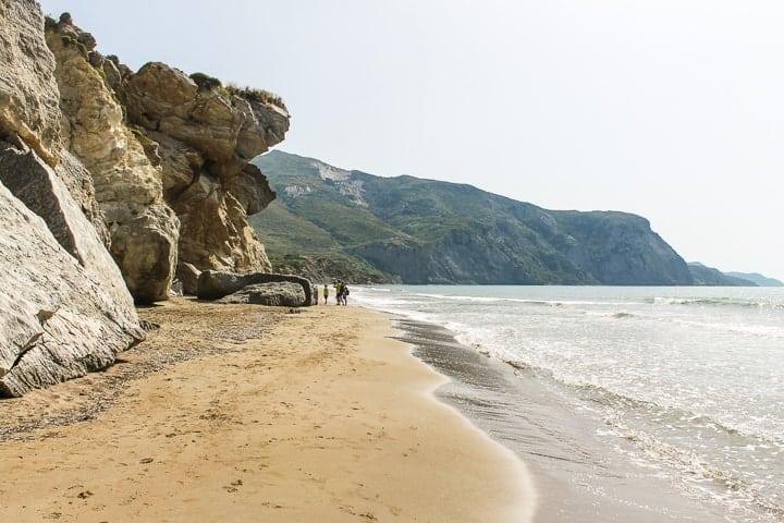 praia Kalamaki - Guia de Praias de Zakynthos