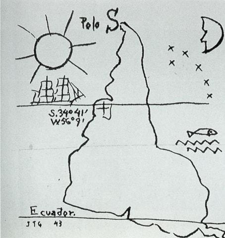 Mapa invertido da América do Sul - Joaquim Torres Garcia