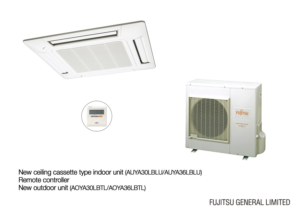 medium resolution of photo of the new ceiling cassette type indoor unit and remote controller new outdoor unit jpeg 1 224kb