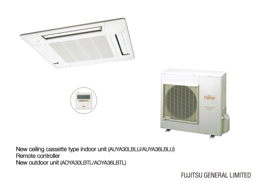 small resolution of photo of the new ceiling cassette type indoor unit and remote controller new outdoor unit jpeg 1 224kb