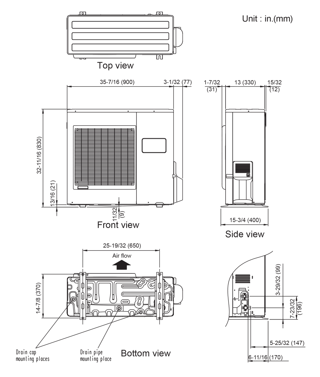 hight resolution of outdoor unit aou36rclx