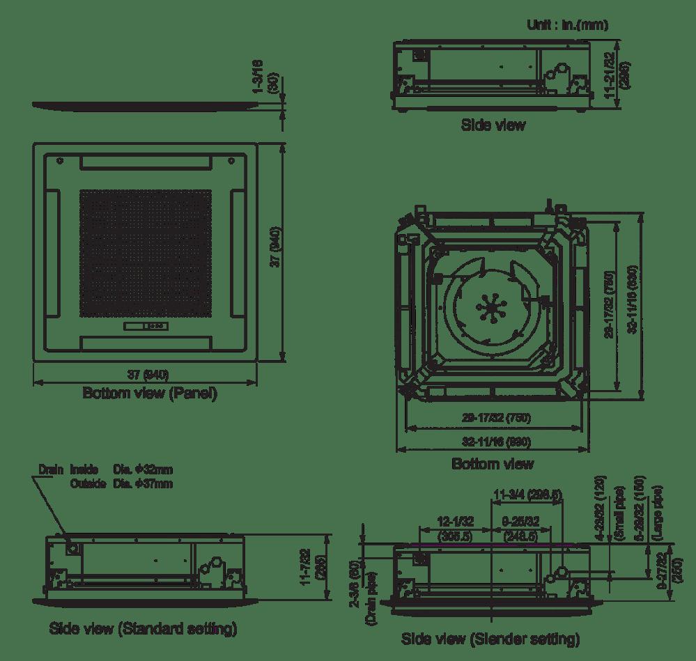 medium resolution of indoor unit auu36rclx