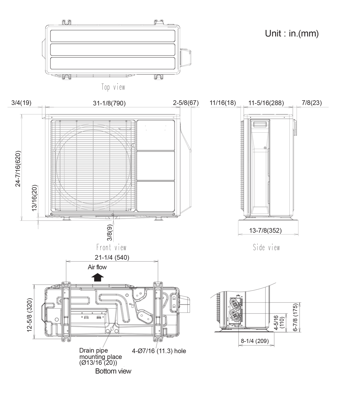 hight resolution of outdoor unit aou12rls3h