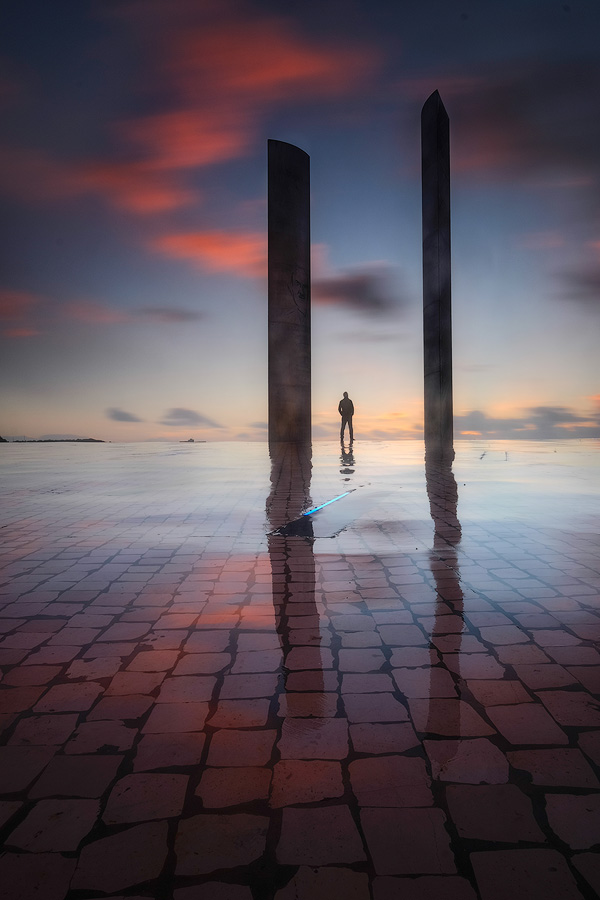 Self portrait the the Champalimaud Foundation at sunset. Fuji X-T1 & XF10-24mm