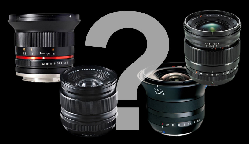 Choosing an ultra-wide angle for Fujifilm