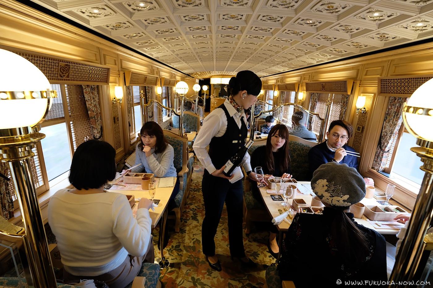 aru ressha, jr kyushu sweet train, kyushu, sightseeing train, japan