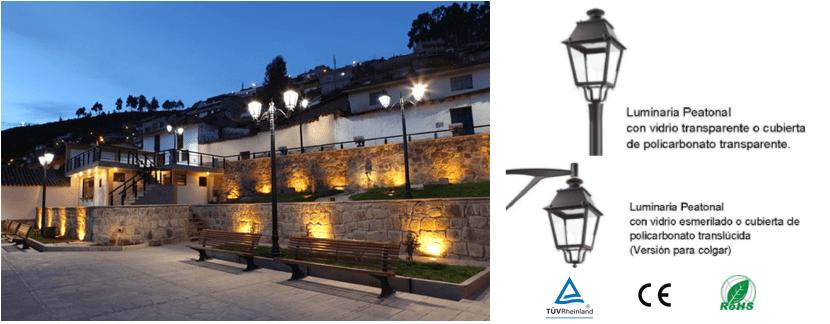 LED Luminaria para Parques Exteriores estilo Colonial