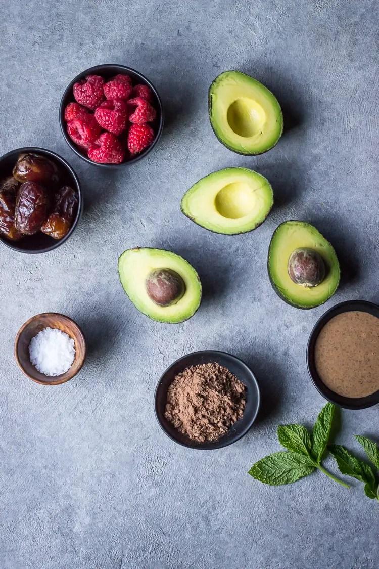 chocolate avocado mousse ing