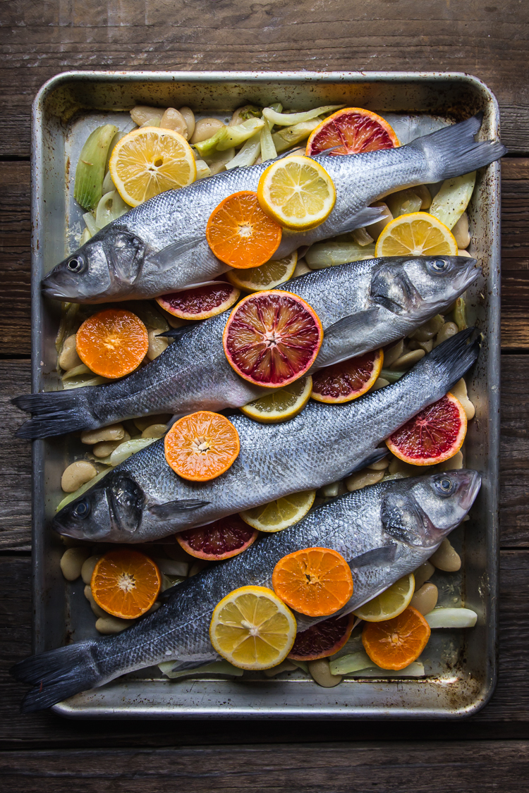 citrus fennel whole roasted fish